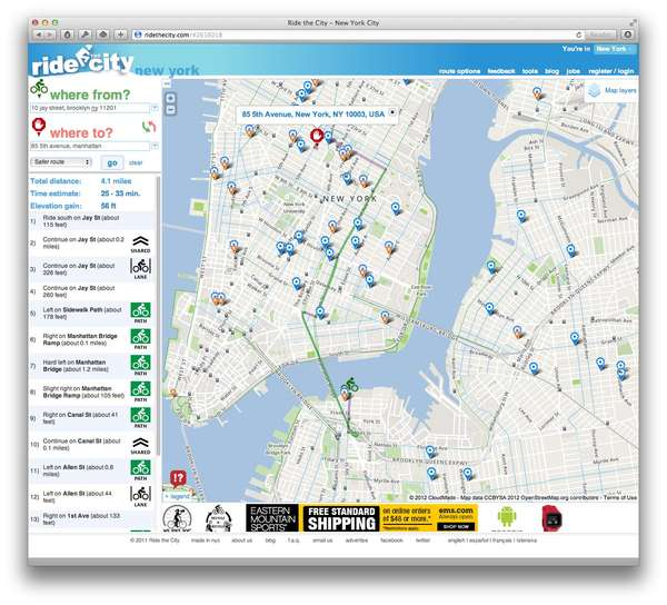 Safe Bike Route Apps