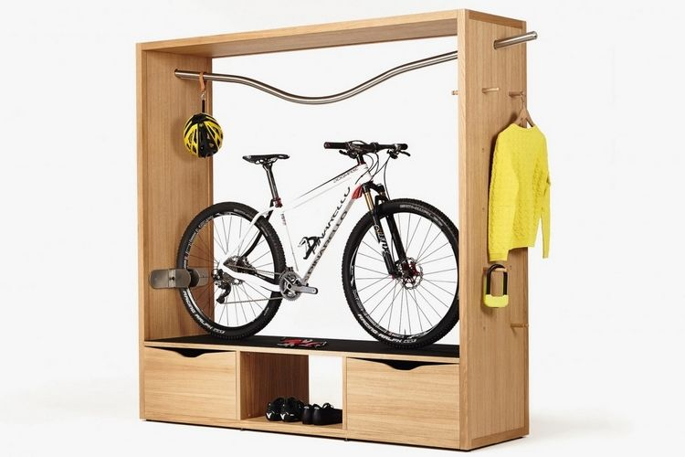 Bicycle wardrobes bike storage rack Bicycle bookshelf