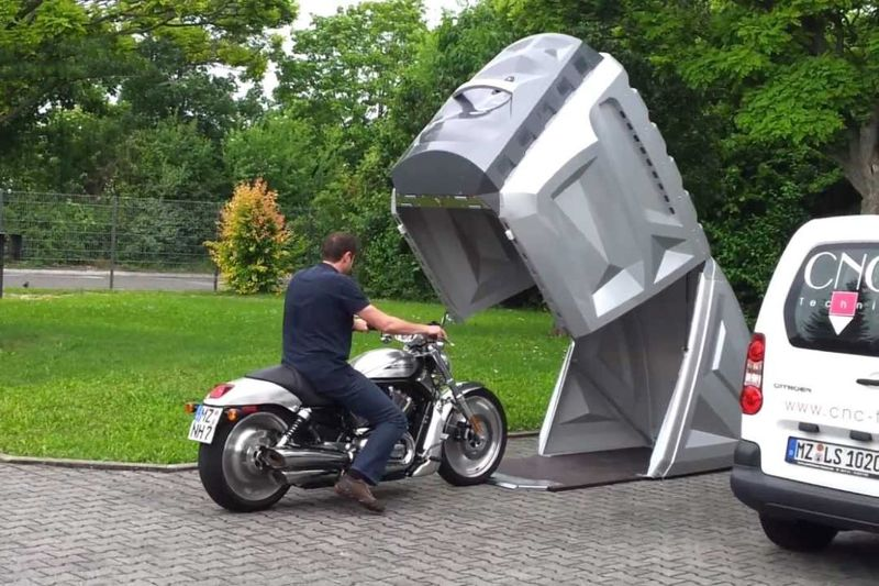 Weatherproof Motorcycle Storage Pods
