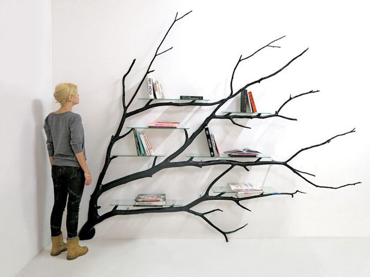 Beautifully Branching Bookshelves