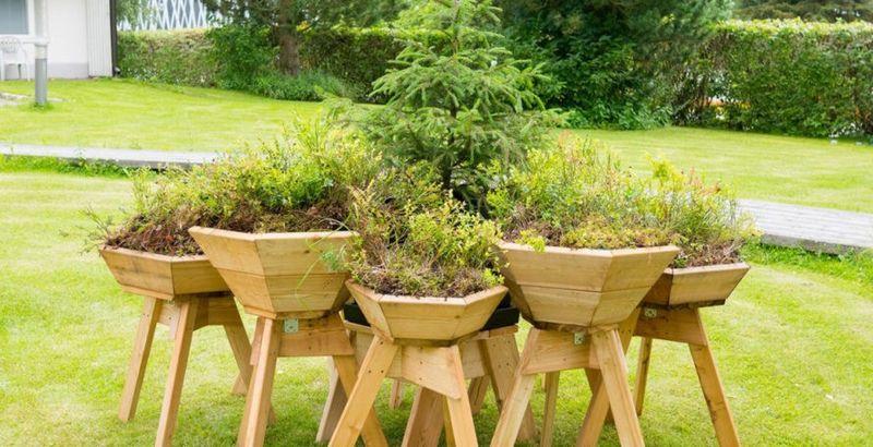 Modular Backyard Planters