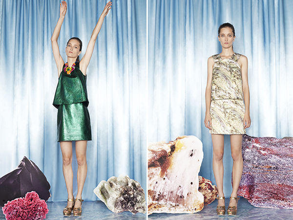 Aquatic Mineral-Inspired Lookbooks