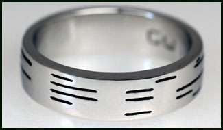 Binary Wedding Rings