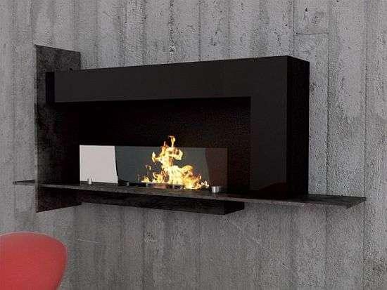 Eco-Chic Heaters : Biocamino Wall Fireplace