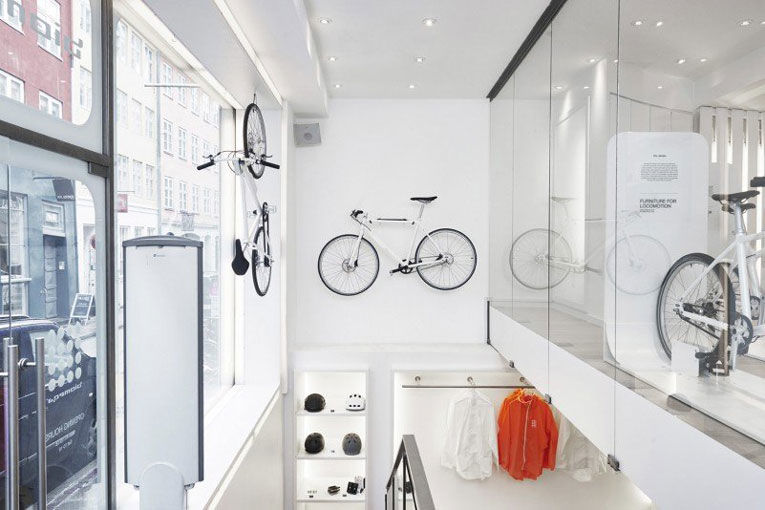 Whiteout Bike Shop Interiors