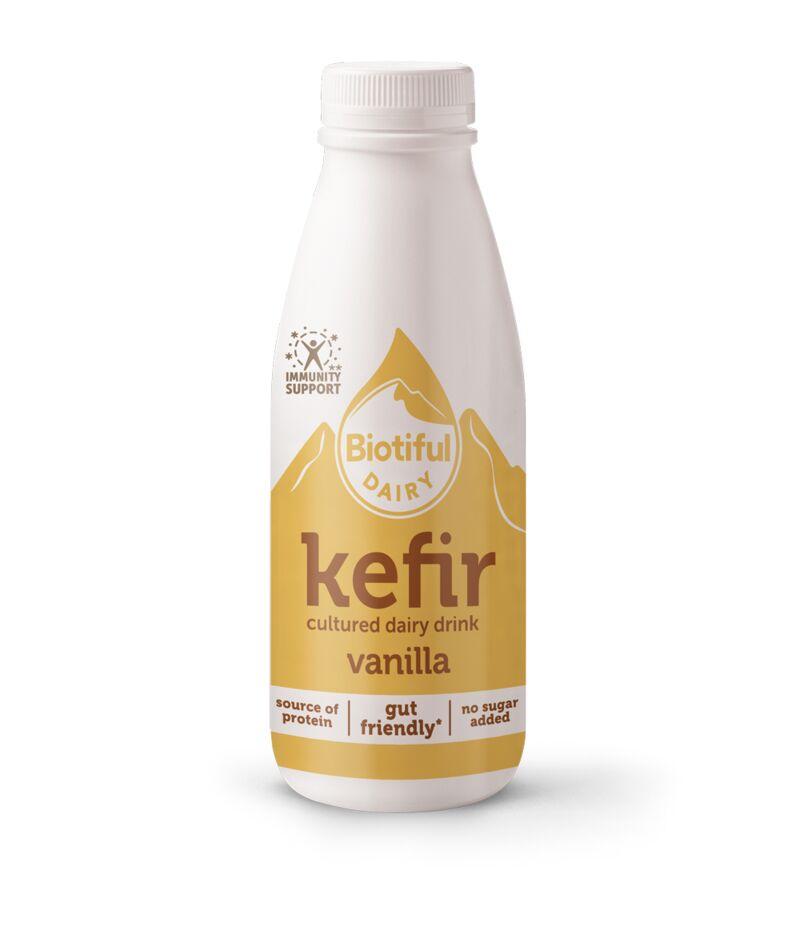Vanilla-Flavored Kefir Drinks