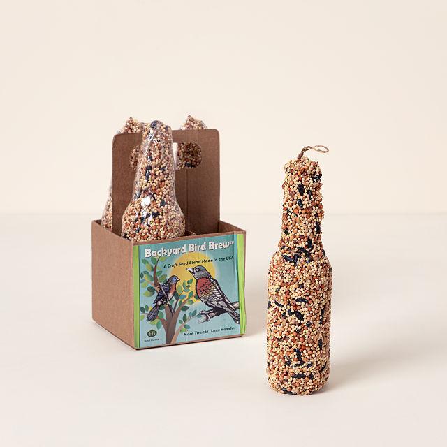 Bottle-Shaped Birdseed Cakes