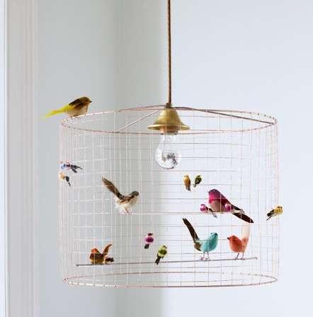 Whimsical Avian Lighting  sc 1 st  Trend Hunter & Whimsical Avian Lighting : Bird Cage Chandelier azcodes.com
