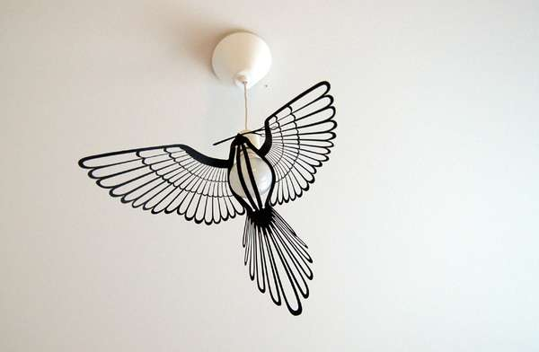 Glowing Avian Lamps