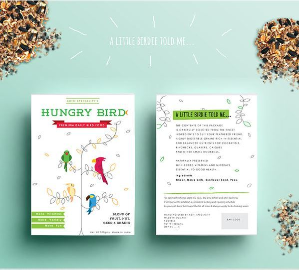Graphic Bird Seed Branding