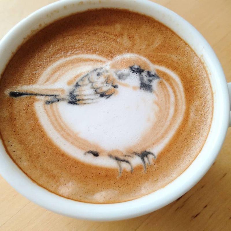 Bird-Styled Latte Designs