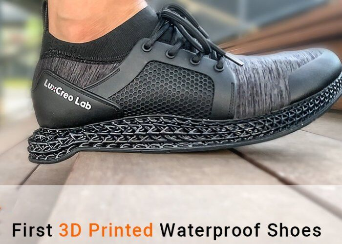 Waterproof 3D-Printed Shoes