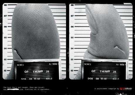 Fingers as Captured Criminals