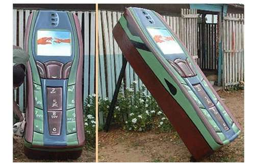 Cell Phone-Shaped Coffins