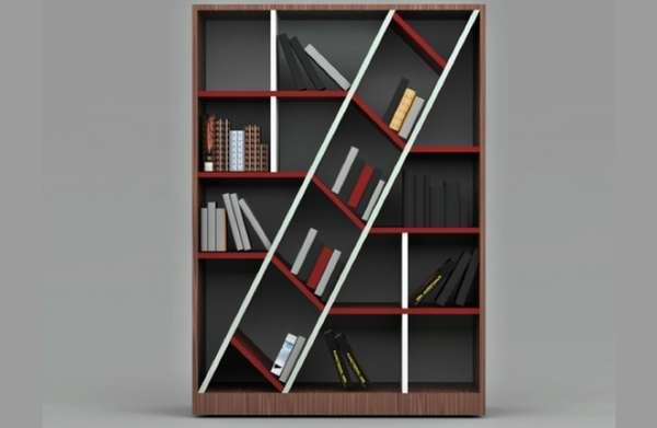 Slanted Center Storage Systems Blabla Bookshelf