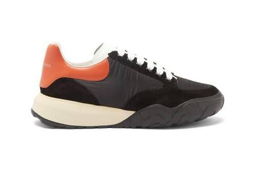 Patterned Midsole Oversized Sneakers
