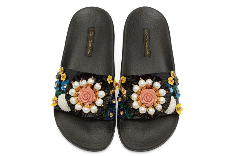 Orchid-Adorned Sandals