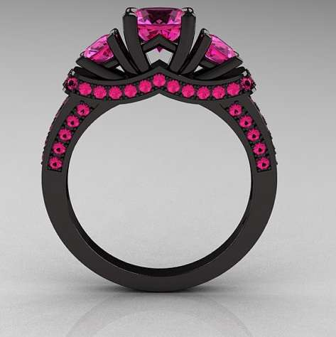 ebony engagement rings - Anime Wedding Rings