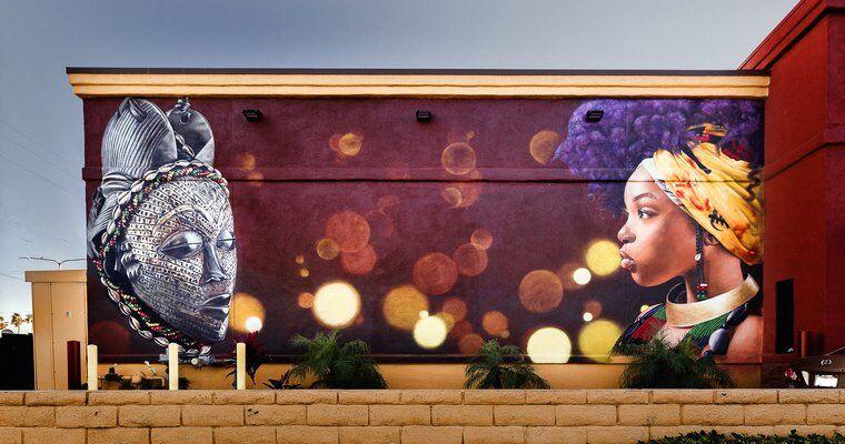 Collaborative Black History Month Murals