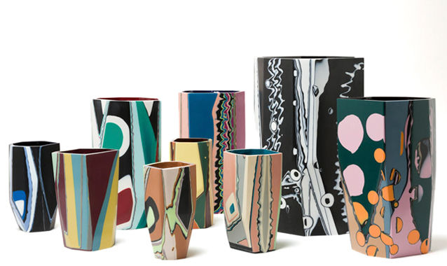 Craft-Inspired Painted Vases
