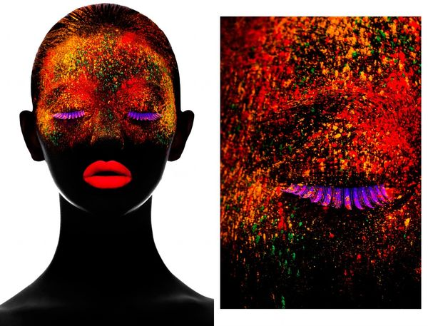 Illuminated Neon Beauty Portraits