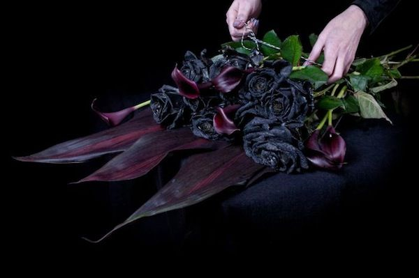 Ink-Bleeding Black Roses