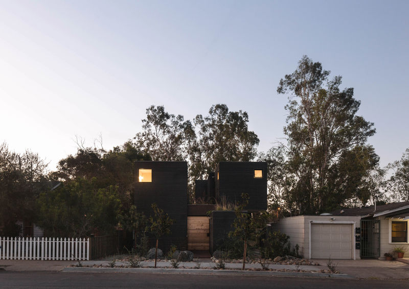 Modern Black Wood Homes