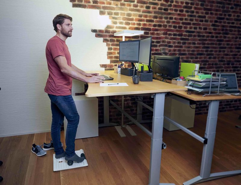 Posture-Supporting Standing Desk Mats