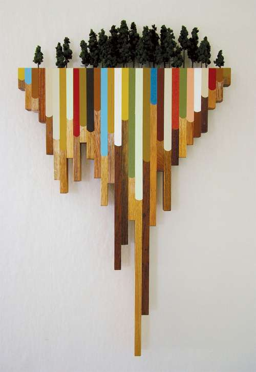 Dripping Wooden Sculptures