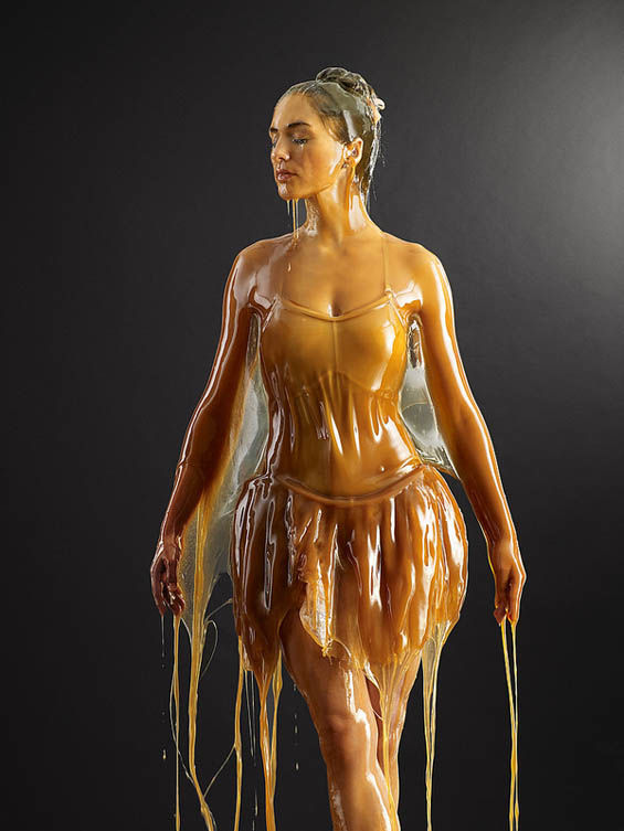 Honey-Covered Models