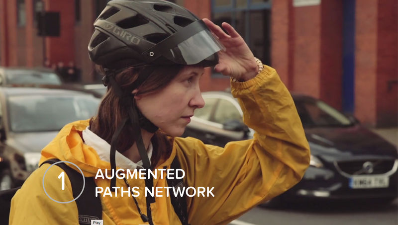 Augmented Reality Bike Helmets