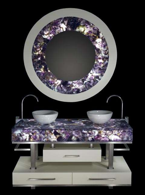 blinged-out home decor: gemstones in luxury interior design