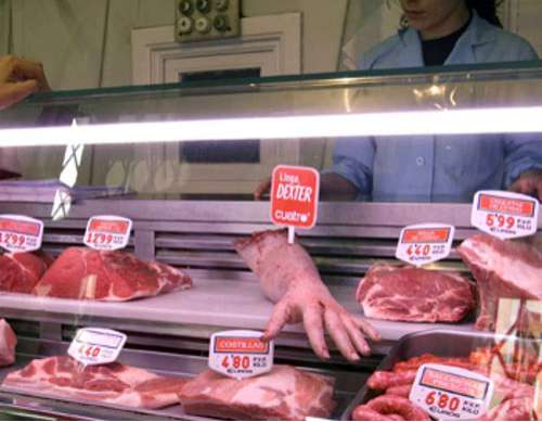 Human Arms in Butcher Shops