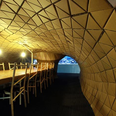 Cardboard Constructed Interiors