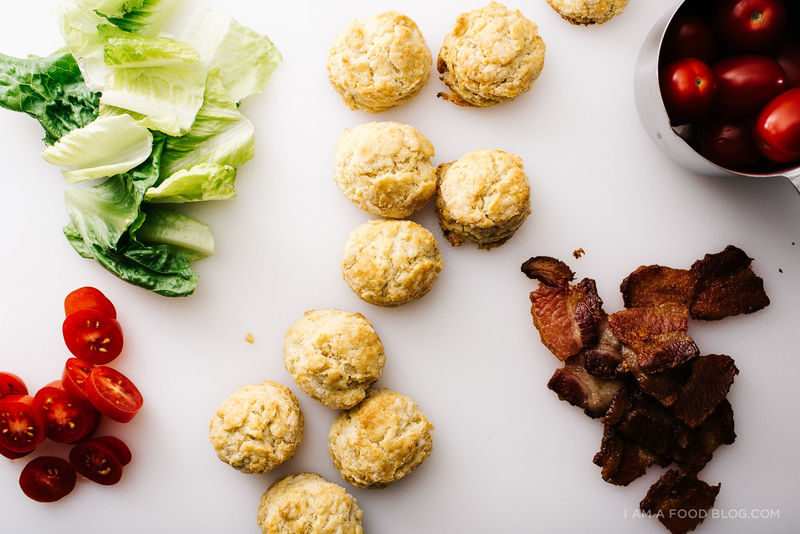 Miniature BLT Biscuits