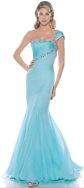 Blue bridal gowns wedding dresses to help you channel for Blue dresses to wear to a wedding
