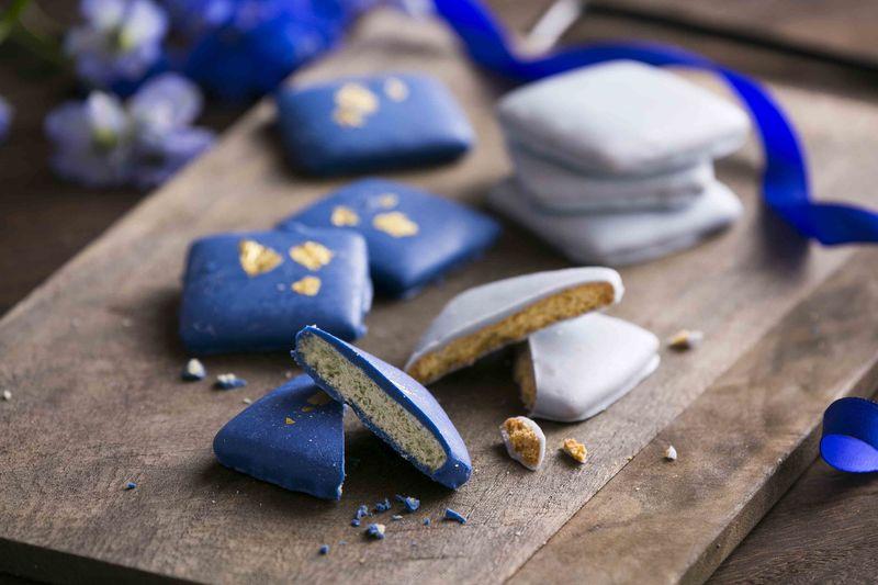 Blue-Hued Chocolates