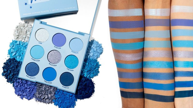 Monochromatic Blue Eyeshadow Palettes