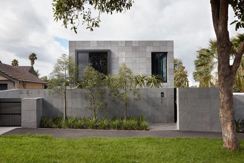 Brutalist-Inspired Bluestone Houses
