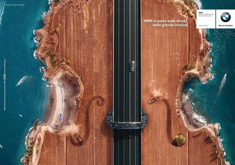 Music-Inspired Aerial Car Campaigns