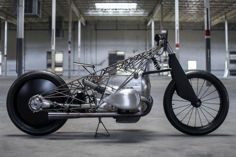 Skeletal Vintage Engine Motorcycles