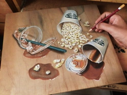 Hyperreal Cutting Board Illustrations
