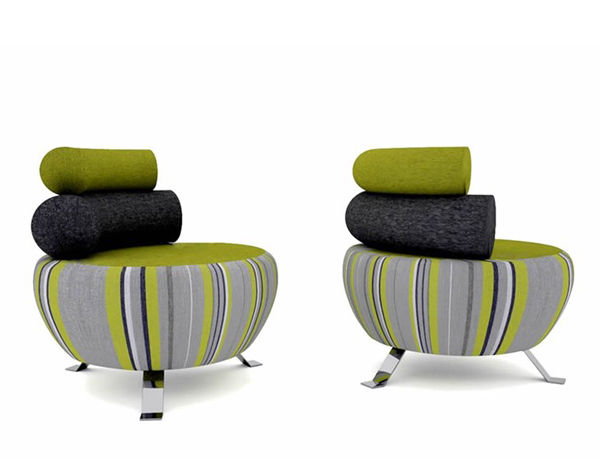 Rotund Layered Seating