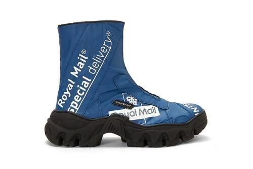 Mail-Themed Vegan Boots