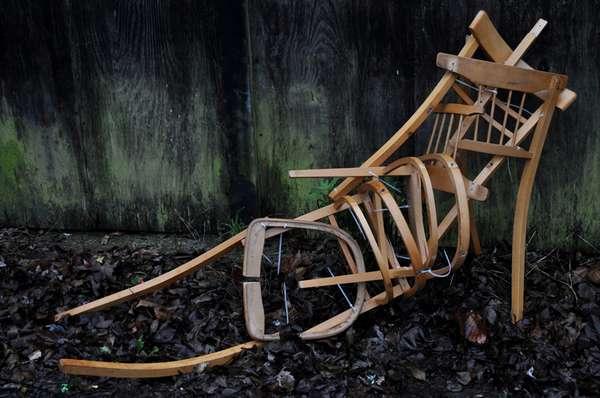 Skeletal Chair Sculptures