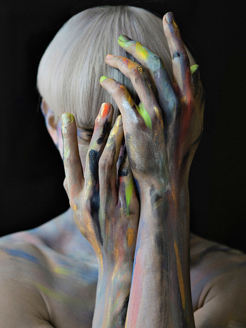 Captivating Body Paint Editorials