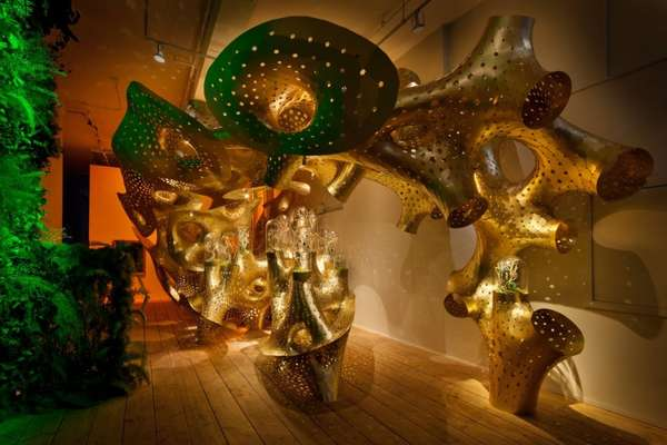 Golden Coral Art Installations