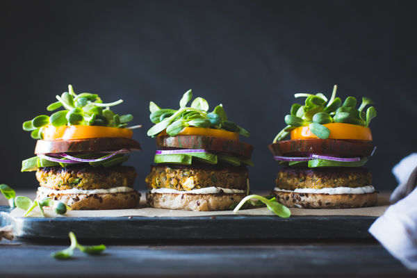 Mint-Infused Veggie Burgers