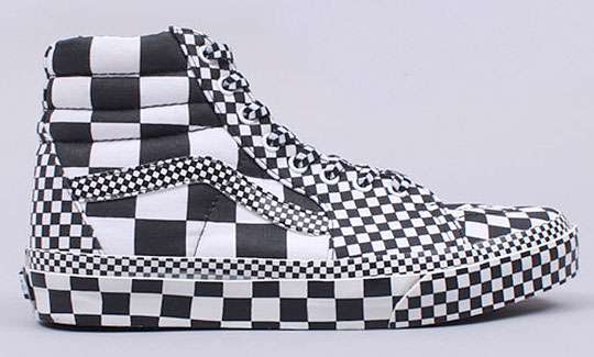 bold graphic sneakers vans sk8 hi all over check may cause seizures