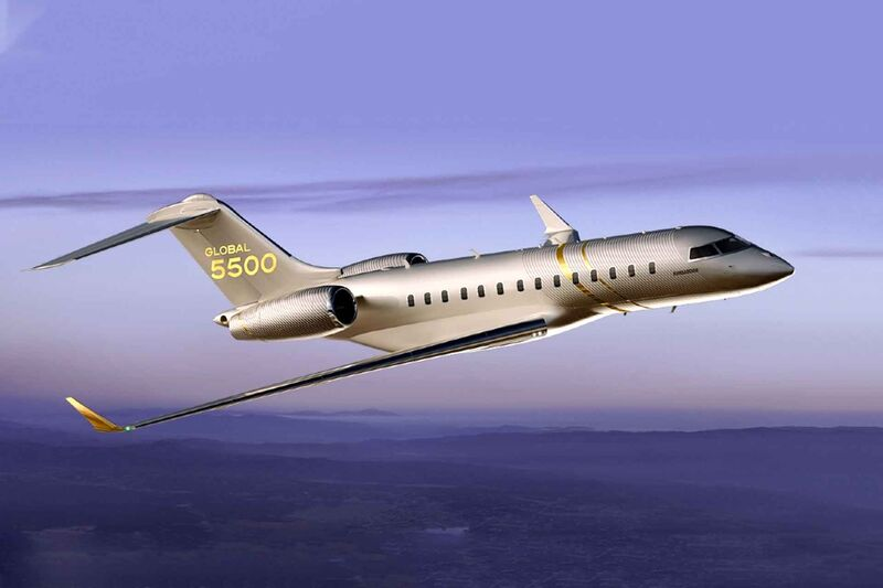 bombardier global 5550 jet
